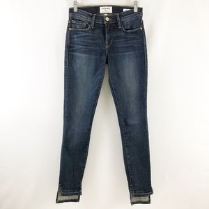 Frame Le Skinny De Jeanne Anchor Step Hem Jeans